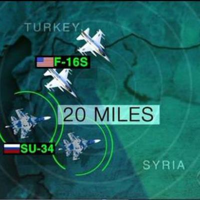 Відбувся візуальний контакт авіації США з літаками Росії у Сирії