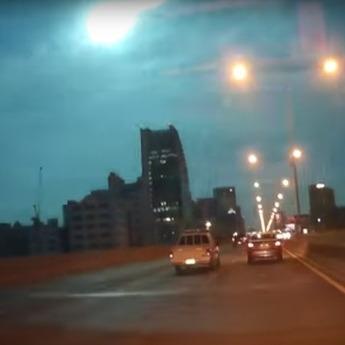 Відеореєстратор зафіксував падіння яскравого метеорита над Таїландом (ВІДЕО)