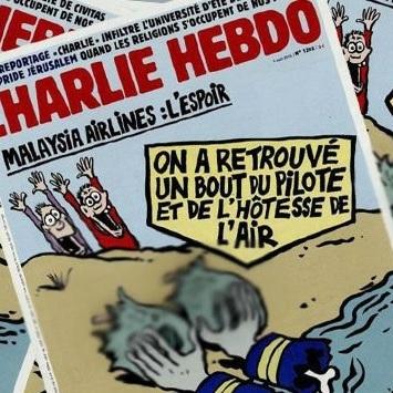 Charlie Hebdo опублікував скандальні карикатури про російський літак