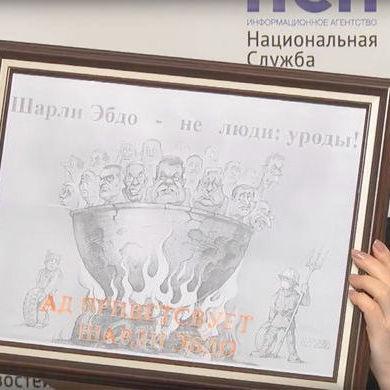 Український художник подасть до суду на російського політика за карикатуру