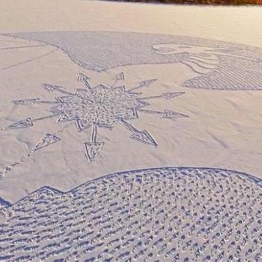 Фантастичні картини на снігу здивували мережу (фото)