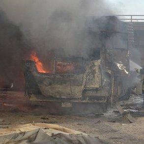 Росія розбомбила другий турецький гумконвой у Сирії