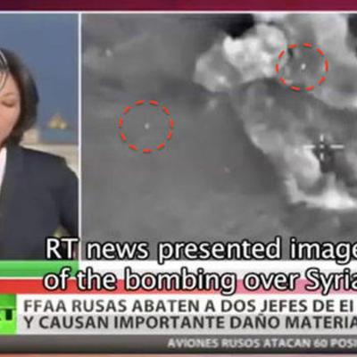 Британські ЗМІ побачили НЛО на відео атаки російських ВКС бойовиків у Сирії