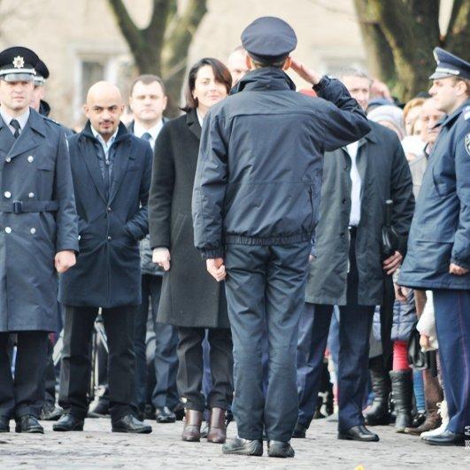 На Закарпатті патрульна поліція прийняла присягу(фото)