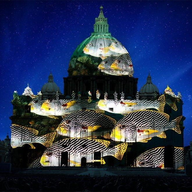 У Римі фасад собору Святого Петра стане гігантським екраном для світлового шоу