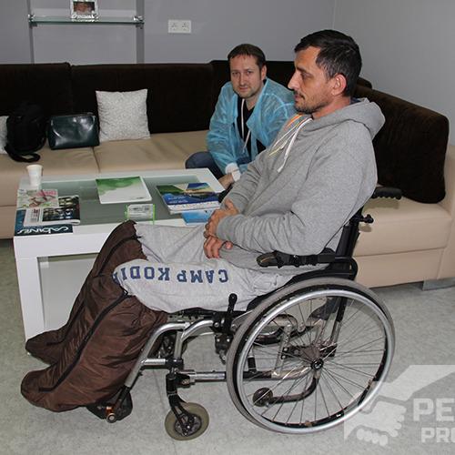 Бійцю АТО врятували від ампутації обидві ноги(відео)