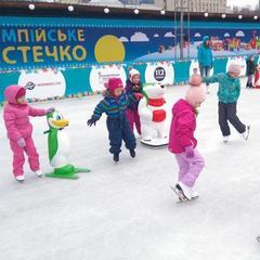 В Олімпійському містечку щодня проходитимуть безплатні заняття з хокею та фігурного катання