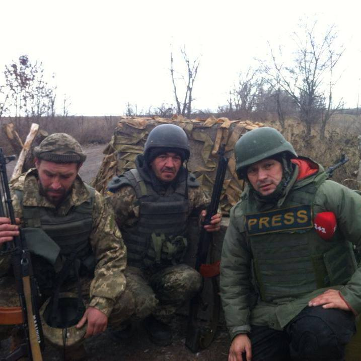 Військовий журналіст зв'язався з мешканцями Комінтернового