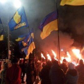 На Донбасі відсвяткували день народження Бандери (ФОТО)