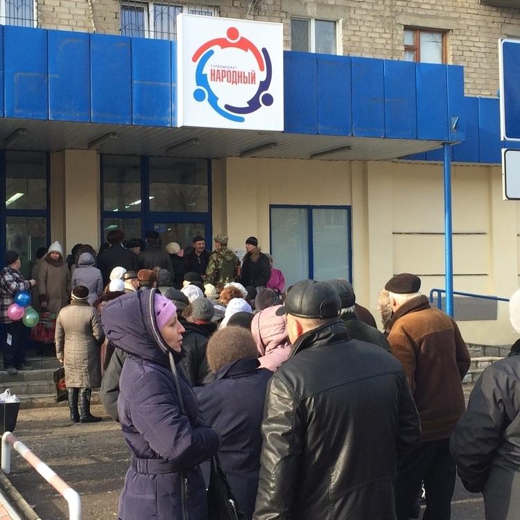 У Луганську продають у склянках биті яйця