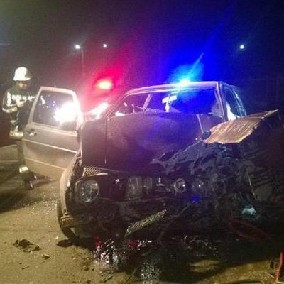У Мукачево п'яний бос поліції протаранив стіну