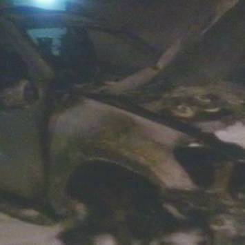В Ужгороді спалили авто екс-губернатора області (ВІДЕО)