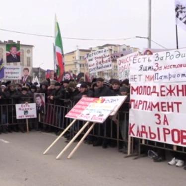 У Грозному проходить мітинг на підтримку Рамзана Кадирова (фото)
