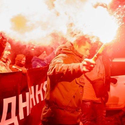 У Києві до Дня Соборності України організували смолоскипну ходу (фото)