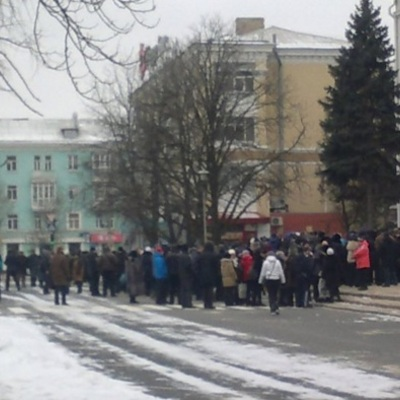 На окупованій Луганщині проходять масові протести підприємців