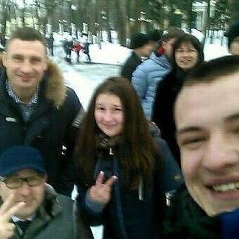 Кличко у Харкові прогулявся парком разом із Кернесом