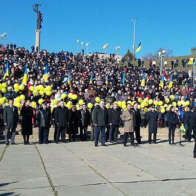 У Херсоні на набережній Дніпра нові патрульні присягнули українському народу (фото)