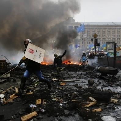 18 лютого 2014 року почався завершальний етап Революції Гідності (фото і відео)
