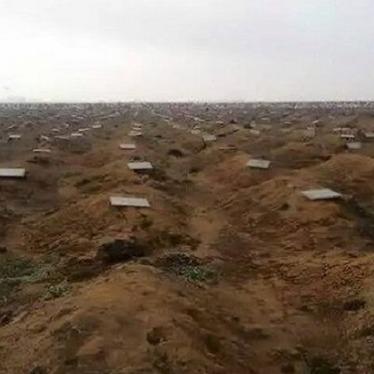 Межа кладовища бойовиків під Ростовом вже йде за горизонт