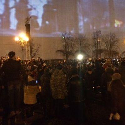 На Майдані сталася сутичка між мітингувальниками та правоохоронцями