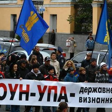 В ОУН наголосили: жодного стосунку до погромів у Києві не мають