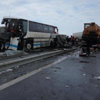 На Одещині автобус потрапив у масштабне ДТП