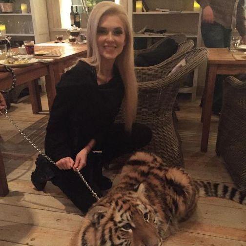Еріка Герцег із «ВІА Гри» отримала в подарунок тигра