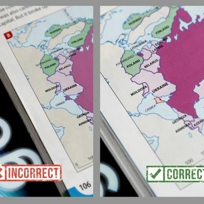 Оксфордське видавництво виправило карту з російським Кримом