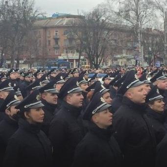 Аваков та Яценюк побували на присязі патрульної поліції в Полтаві