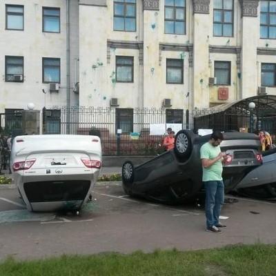З боку РФ прокоментували напад на їхнє посольство в Україні