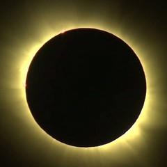 Як виглядає сонячне затемнення з літака (ВІДЕО)