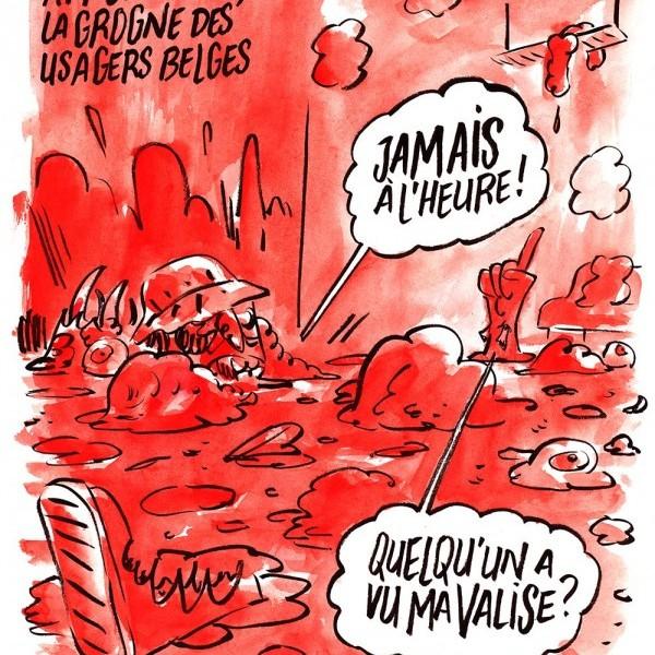 Charlie Hebdо опублікував другу більш криваву карикатуру на теракти в Брюсселі (ФОТО)