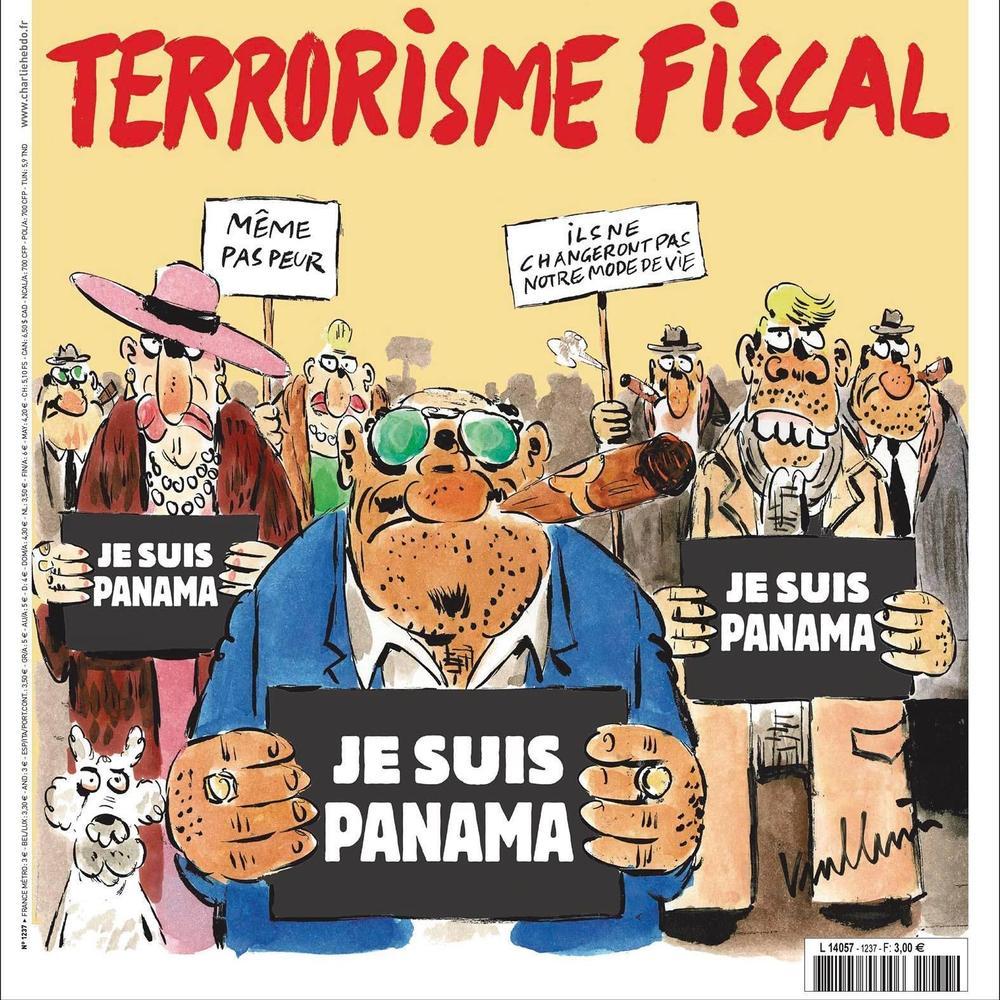 Charlie Hebdo не забарився та висміяв «панамські офшори»