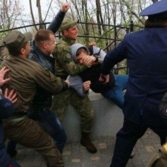 В Одесі розгулювали люди з георгіївськими стрічками