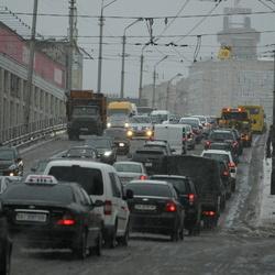 Затори в Києві сьогодні досягли 7 балів
