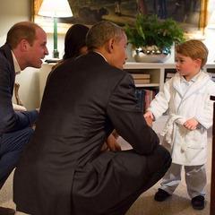 Маленький принц Джордж зустрівся з американським президентом (фото)