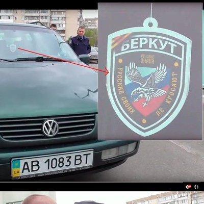 У Києві боєць їздив з сепаратистською символікою (відео)