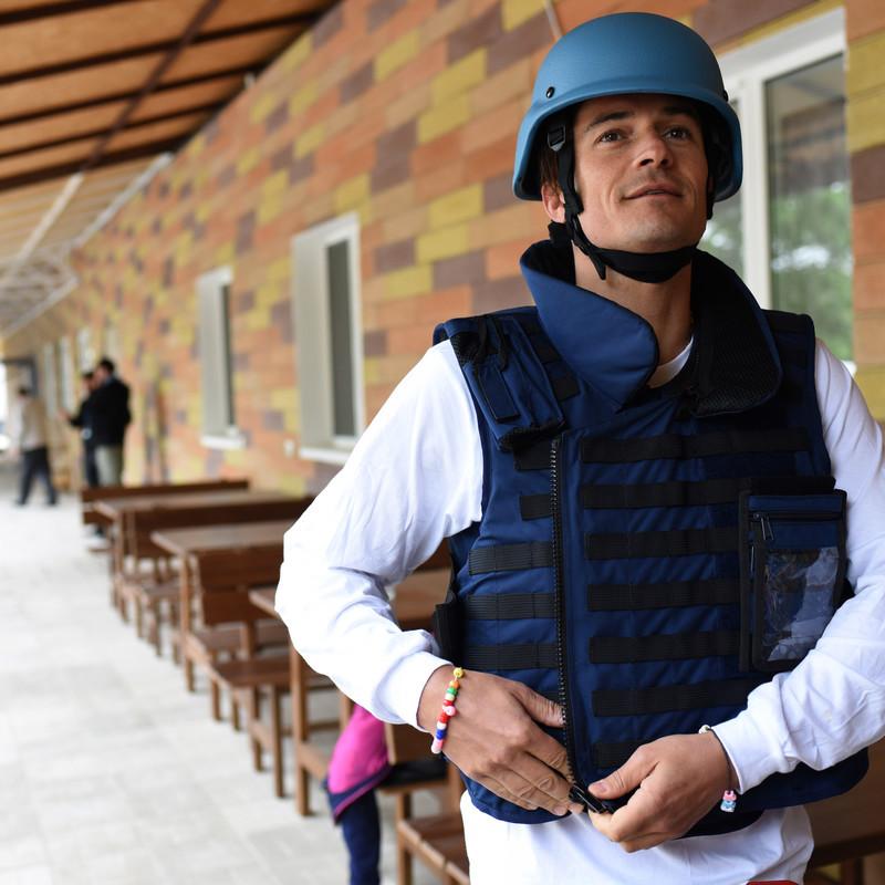 Орландо Блум розповів про поїздку на Донбас (ФОТО)
