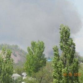 У Донецьку сталася масштабна пожежа на заводі (ВІДЕО)