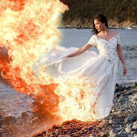 Наперекір вогню: канадська пара справила весілля, не зважаючи на пожежі