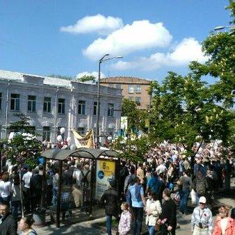 Між патріотами та прихильниками Сталіна у Києві сталася сутичка