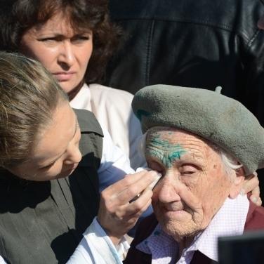 У Слов'янську облили зеленкою ветерана війни