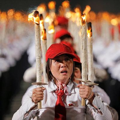 Нестримні веселощі: як в Північній Кореї відсвяткували з'їзд правлячої партії (фото)