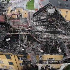 В Австрії через недопалок вщент згорів стародавній замок Габсбургів (ФОТО)