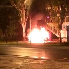 У центрі Донецька вибухнула автівка (фото)