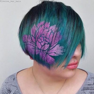 Яскравий тренд - малюнки на волоссі
