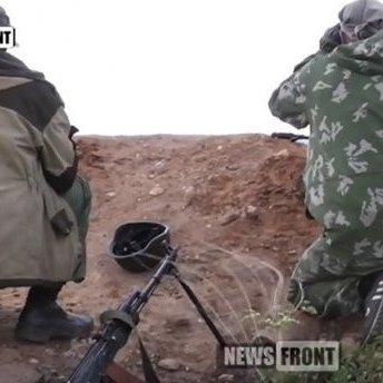 Бойовики «засвітили» свої позиції поблизу Донецька (відео)