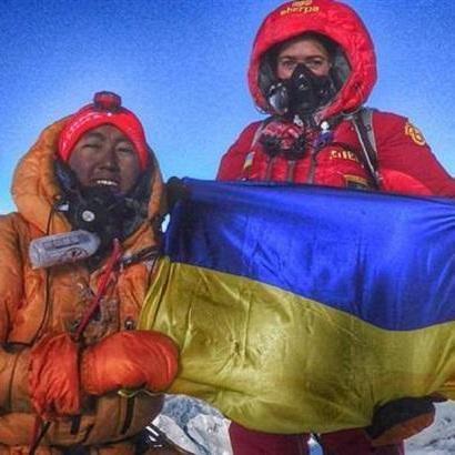 На Евересті розгорнули прапор України
