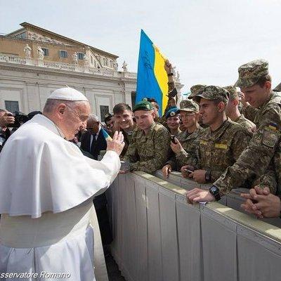 Папа Римський благословив українських військових (ФОТО)
