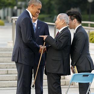 Стало відомо, що сказав Обамі 91-річний японець, який постраждав від атомного бомбардування США